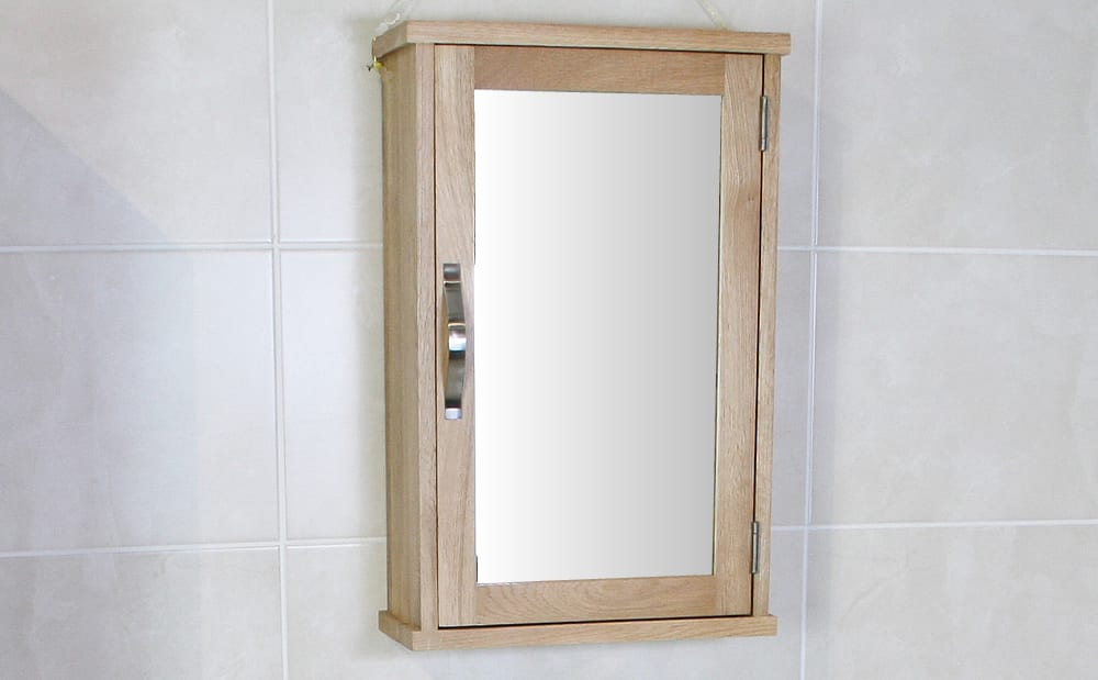 oak bathroom wall cabinet